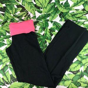 5 for $25 PINK VS Pink Foldover Studded Yoga Pants